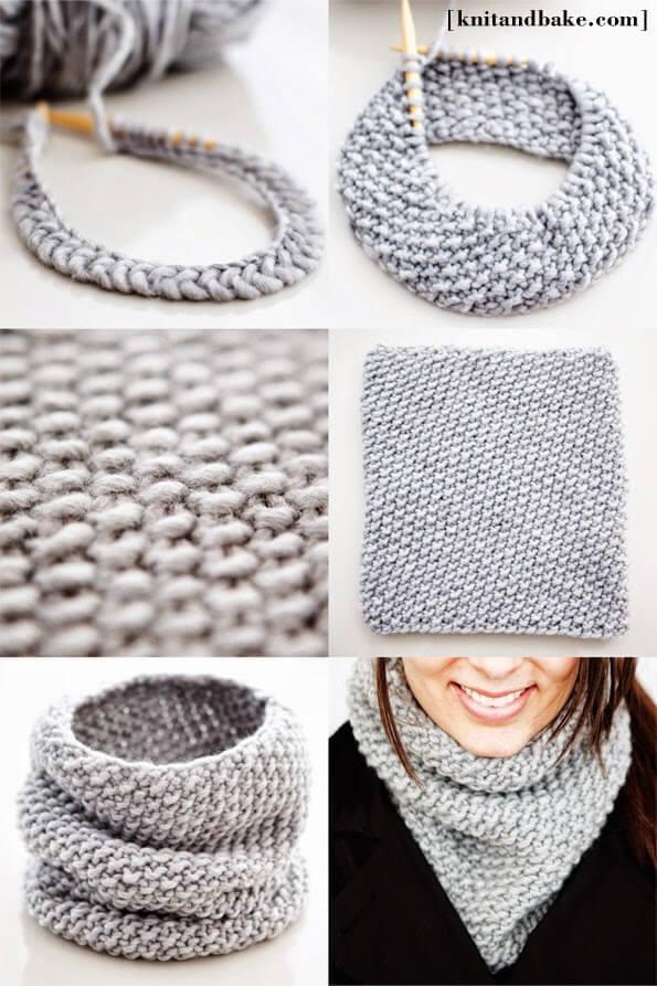 Supersnelle sjaal in dikke wol
